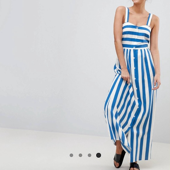 93d1cc5ca4a ASOS Dresses   Skirts - ASOS Tall Linen Striped Maxi Dress